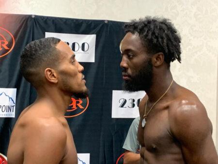 Isaiah Wise vs. Dewayne Williams weights from Philadelphia, USA   Boxen247.com (Kristian von Sponneck)